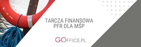banner z napisem: tarcza finansowa PFR dla MŚP i zdjęciem koła ratunkowego